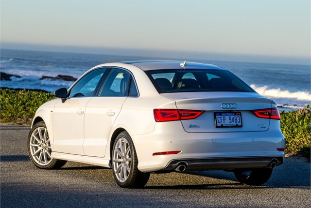 Photo of 2015 A3 sedan courtesy of Audi.
