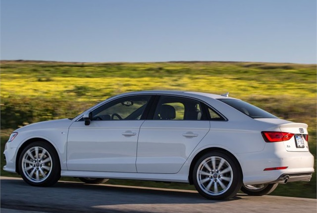 Photo of the 2016 A3 sedan courtesy of Audi.