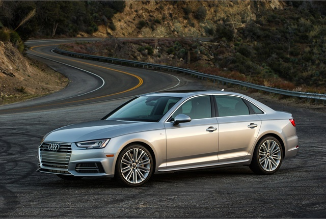 Photo of the 2017 A4 courtesy of Audi.