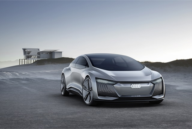 Image of the self-driving Audi Aicon concept car courtesy of Audi.