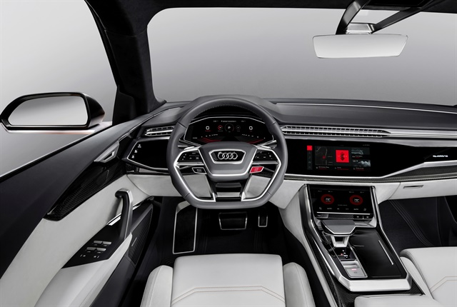 Photo of Q8 concept vehicle with integrated Android courtesy of Audi.