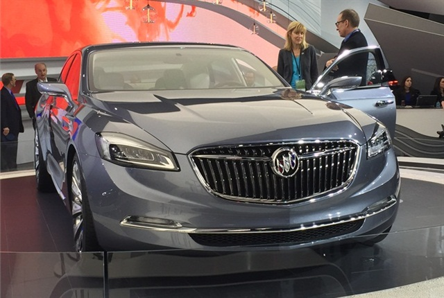 """GM's Buick Avenir Concept luxury sedan borrows its name from the French word for """"future."""" Photo by Mike Antich"""