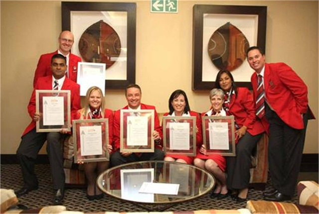 The Avis Fleet Services team celebrate their PMR accolades.