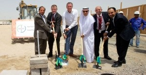Bayer Pearl Industries officials break ground at the new Dubai HQ. Photo: Pearl Industries