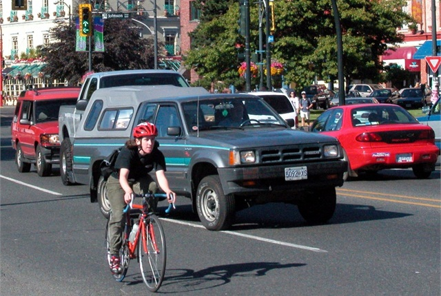 A total of 24 states now have a three-foot passing law on the books, in hopes of preventing vehicle-bicycle collisions. Photo courtesy of AAA Foundation for Traffic Safety.