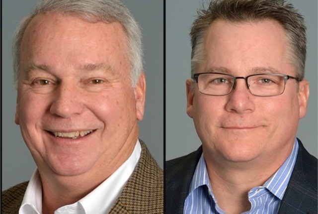 Bill Lott (left) and Jon Keller have joined the Merchants Fleet Management sales team.