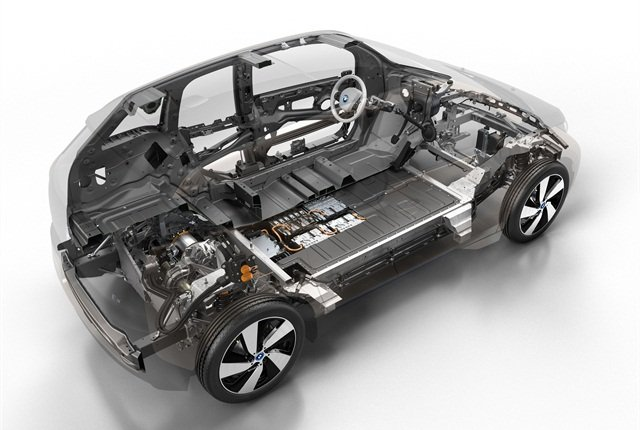 BMW plans to offer an optional range extender gasoline engine for its i3 EV. This engine can improve the vehicle's range by 60 to 80 miles. Photo courtesy BMW.