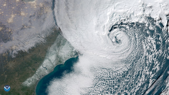 Winter Storm Grayson Photo: National Oceanic and Atmospheric Administration