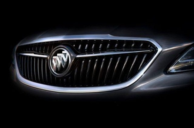 2017 Buick LaCrosse's grille design with updated tri-shield logo. Photo courtesy of Buick.