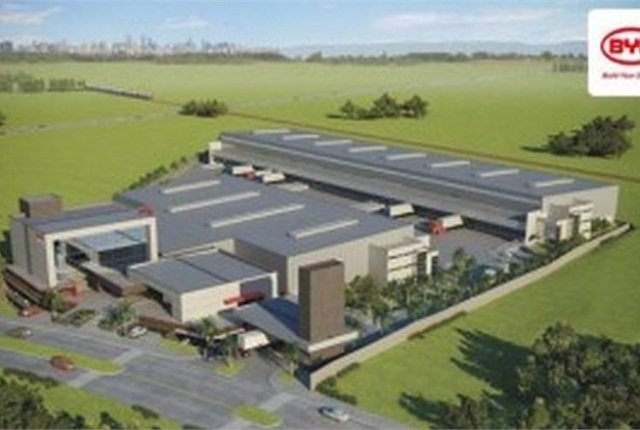 BYD's Plant in Sao Paulo Brazil near the city of Campinas opening in 2015. Illustration courtesy of BYD.
