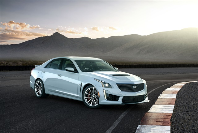 Photo of 2018 CTS-V Glacier Metallic Edition courtesy of Cadillac.