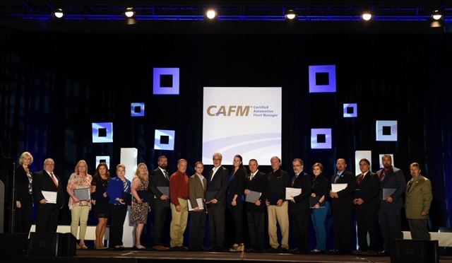 Nineteen of the CAFM graduates were present to celebrate at the NAFA I&E. Photo courtesy of NAFA