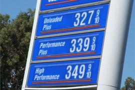 Gasoline Inches Higher to $2.22 Per Gallon