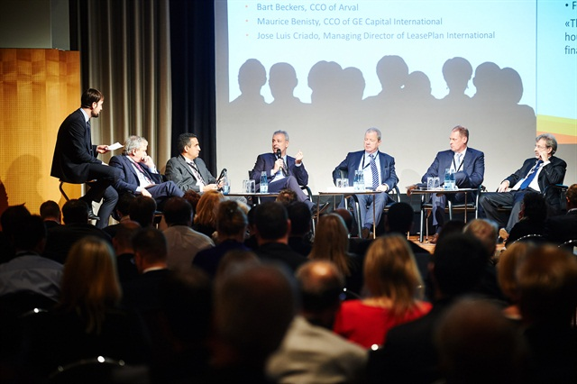 The traditional CEO leasing debate (the 2014 debate pictured here) will be the final session of the 2015 Fleet Europe Forum in Rome on Nov. 19, 2015. Photo: Fleet Europe