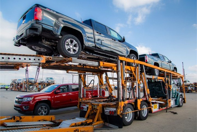 General Motors shipped its new mid-size pickups in late 2014. Photo courtesy of GM.