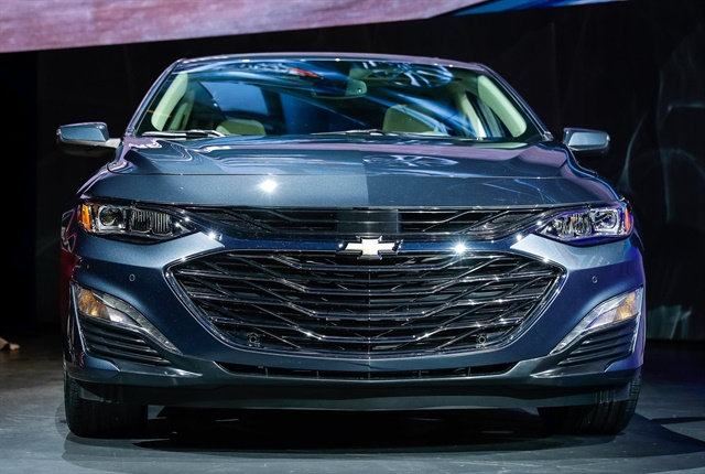 Photo of 2019 Chevrolet Malibu midsize sedan courtesy of GM.