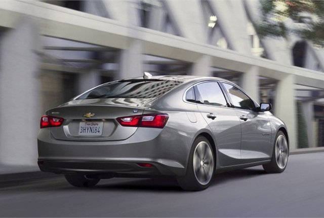 Photo of 2016 Chevrolet Malibu courtesy of GM.
