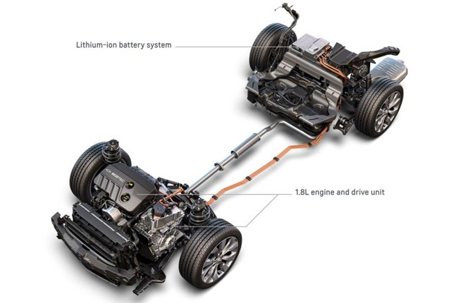 Photo of Chevrolet Malibu Hybrid powertrain courtesy of GM.