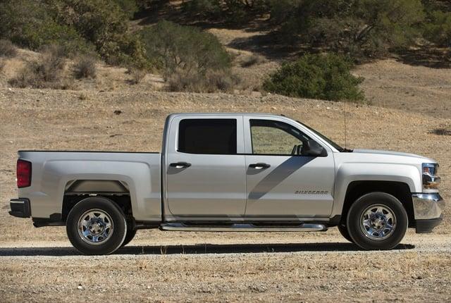 Photo of the 2016 Chevrolet Silverado courtesy of GM.