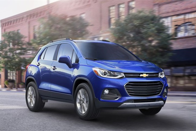Photo of 2017 Chevrolet Trax courtesy of GM.