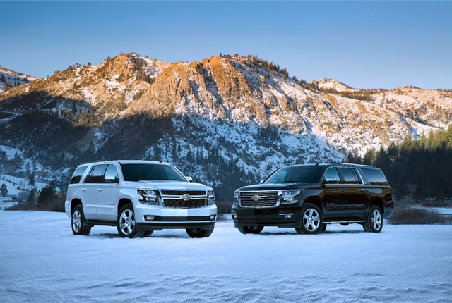 Photo of 2015 Chevrolet Tahoe and Suburban courtesy of General Motors.