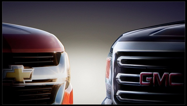 GM teased this image of the all-new upcoming Chevrolet Colorado and GMC Canyon. Photo courtesy GM.