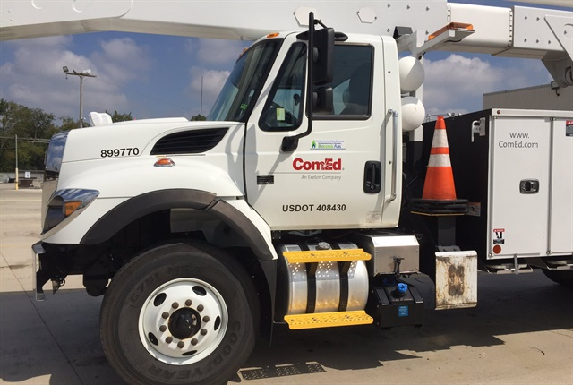 ComEd, which was named a Top Green Fleet by Chicago Area Clean Cities, provides service to approximately 4 million customers across northern Illinois, 70 percent of the state's population. ComEd operates more than 1,750 trucks using biodiesel fuel. In 2016, ComEd used nearly 600,000 gallons of cleaner-burning biodiesel instead of regular diesel fuel. Photo courtesy of Chicago Area Clean Cities Coalition.