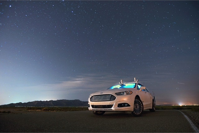 Photo of Ford Fusion Hybrid autonomous research vehicle courtesy of Ford.