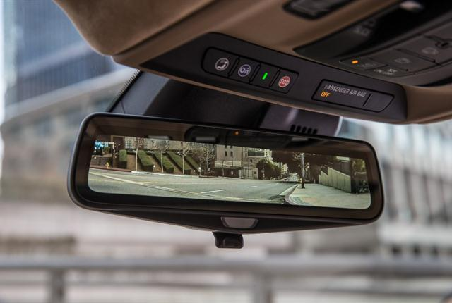 The Cadillac CT6 sedan's available rear camera mirror has drawn approval by federal safety regulators. Photo courtesy of General Motors.