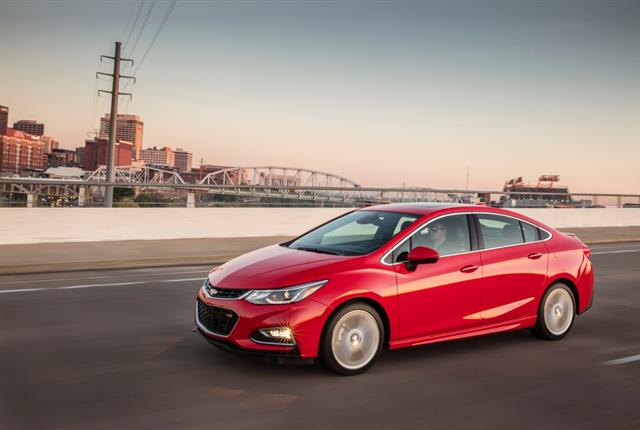 Photo of Chevrolet Cruze courtesy of GM.