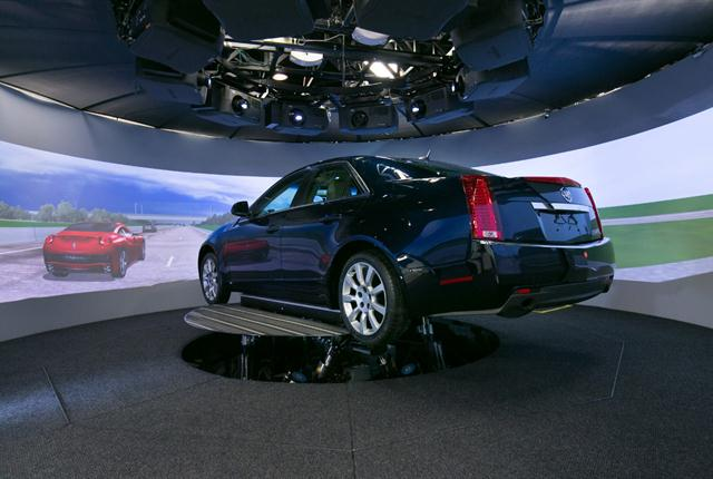 GM's Research Driving Simulator is helping advanced technology developers study how drivers interact with Super Cruise, a semi-automated driving system. Photo courtesy of General Motors.