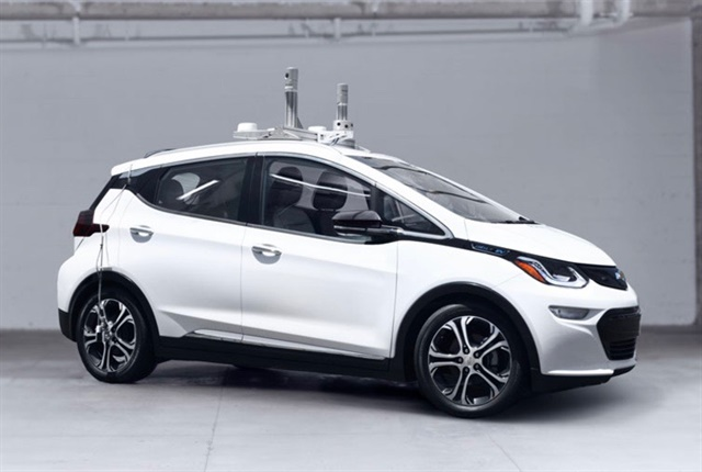 Photo of autonomous Chevrolet Volt courtesy of Cruise Automation.