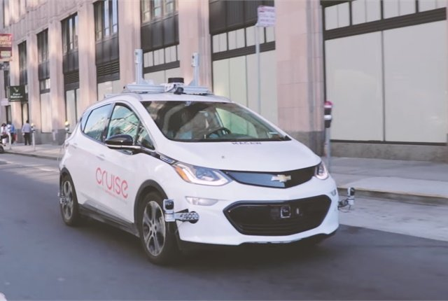 Screen shot of Cruise Automation self-driving car courtesy of Cruise Automation/YouTube.