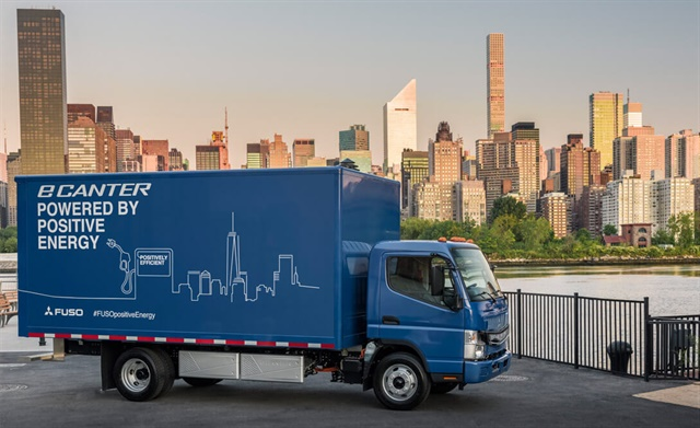 Mitsubishi Fuso's all-electric eCanter truck has a daily range of approximately 60 miles, based on configuration.  Photo: Mitsubishi Fuso