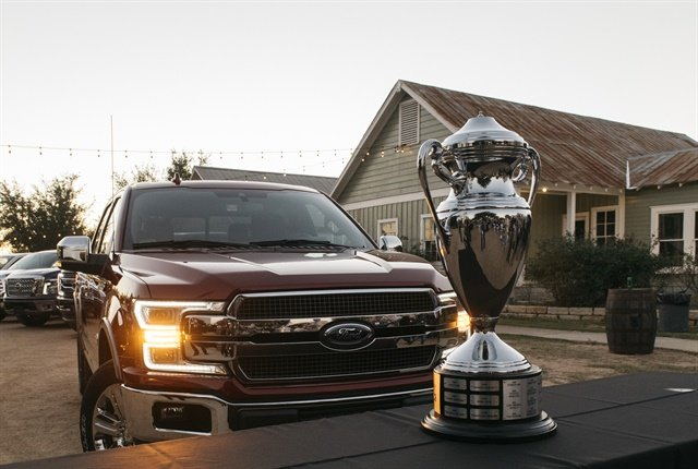 Photo of the 2018 F-150 with TAWA trophy courtesy of Ford.