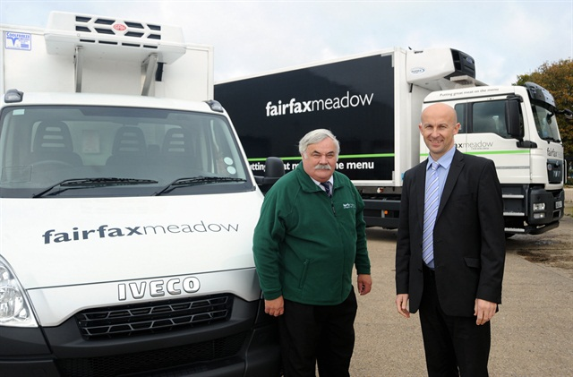 (Left-Right) Mike Reid, group national transport manager for Fairfax Meadow, and John Cooper, strategic customer development manager for Fraikin. Photo: Fraikin