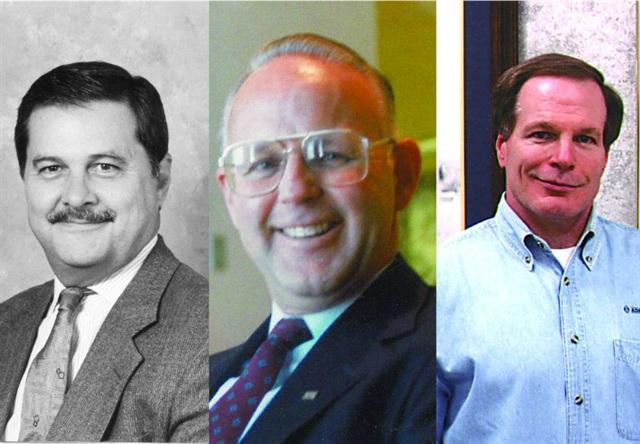 (L-R) Bob Mayfield, Ron Pink, Harley Westfall