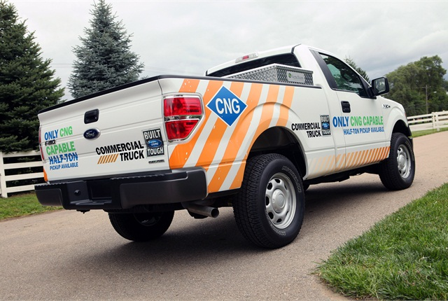 Ford said the CNG/LPG prep package costs approximately $315 from the factory.