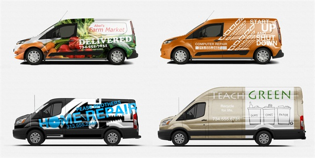 Ford Provided Sample Images Of Its Transit Connect Vans And Full Size With