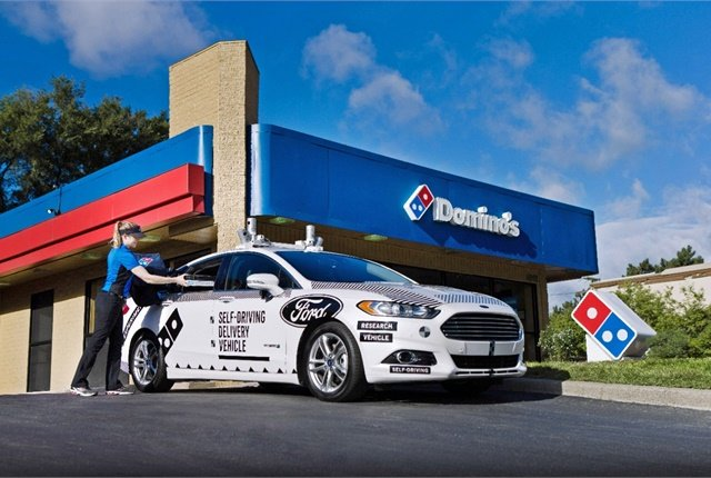 Domino's Testing Self-Driving Fusion Hybrid for Pizza ...