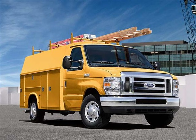 Photo of E-450 cutaway van courtesy of Ford.