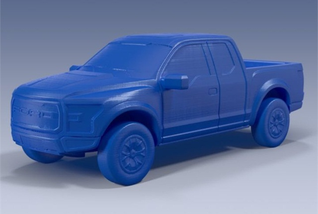 Photo of F-150 model courtesy of Ford.