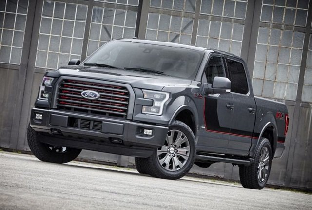 Photo of 2016 F-150 Lariat with appearance package courtesy of Ford.