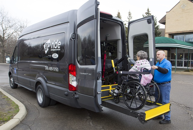 Photo of GoRide Transit van courtesy of Ford.