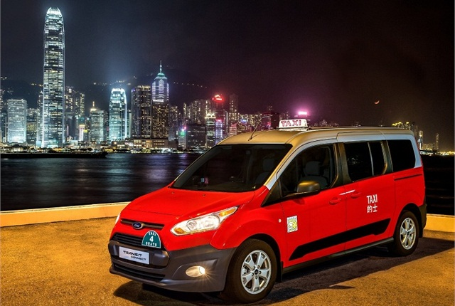 The Ford Transit Connect taxi has been added to fleets in Hong Kong.