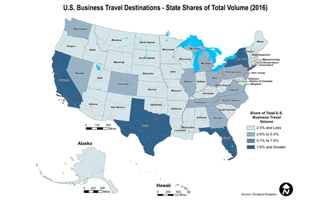 Map courtesy of the Global Business Travel Association
