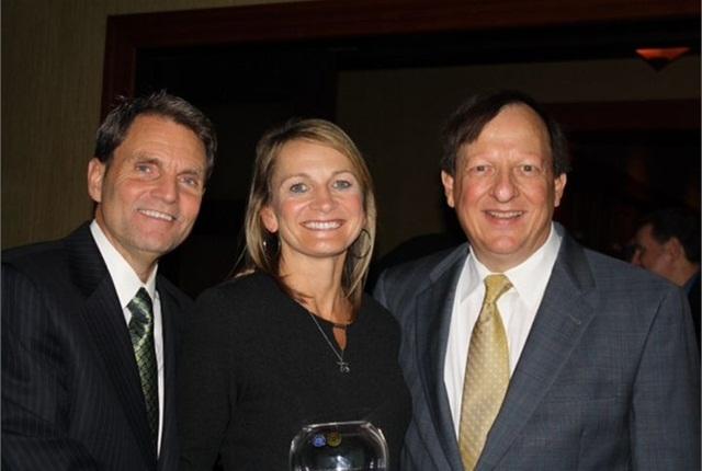 (l. to r.) Paul Seger, GE Capital Fleet; Julie Picard, Manheim Seattle; and Dennis Worthy, Manheim Milwaukee