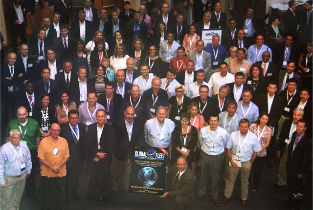 Some of the attendees of the inaugural Global Fleet Management Conference pose for a photo.