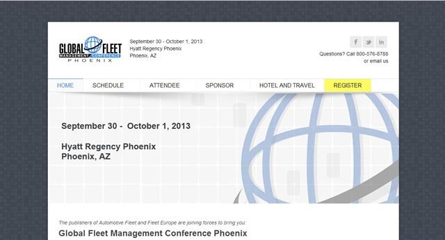 <p>A screenshot from the Global Fleet Management Conference website.</p>