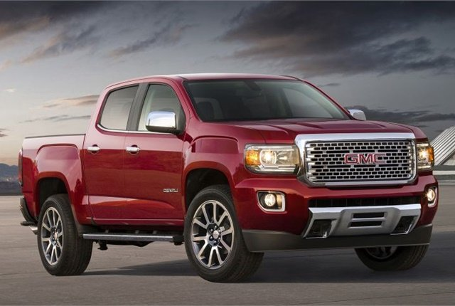 Photo of the 2017 GMC Canyon Denali courtesy of GM.